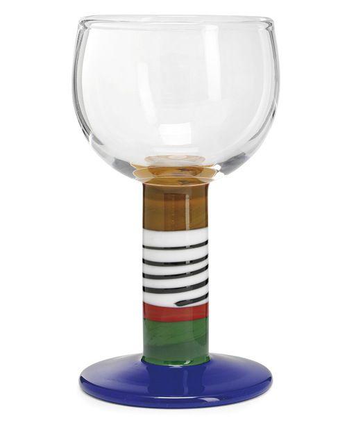 Pokal Popglas av Gunnar Cyrén, 1967, höjd 21 cm, såld för 3 600 kr, Moderna 2012, Stockholms Auktionsverk.