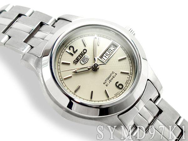 【楽天市場】【逆輸入SEIKO5】セイコー5 レディース 自動巻き 腕時計 オフホワイトダイアル ステンレスベルト SYMD97K1:セイコー時計専門店 スリーエス