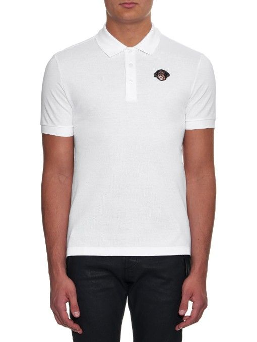 Givenchy Cuban-fit Rottweiler-embroidered polo shirt