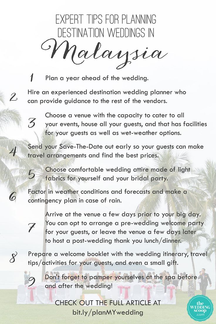 Expert Tips For Planning Destination Weddings In Malaysia