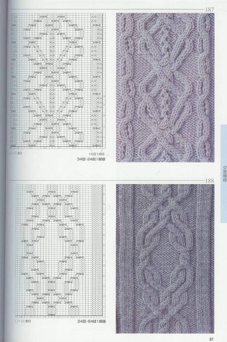 Узоры спицами / Вязание спицами / японские узоры