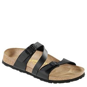 Rock the Birkenstock Salina Birko-Flor in Black all summer long! Shop Now: http://www.happyfeet.com/Products/SALINA-BIRKO-FLOR__2312.aspx