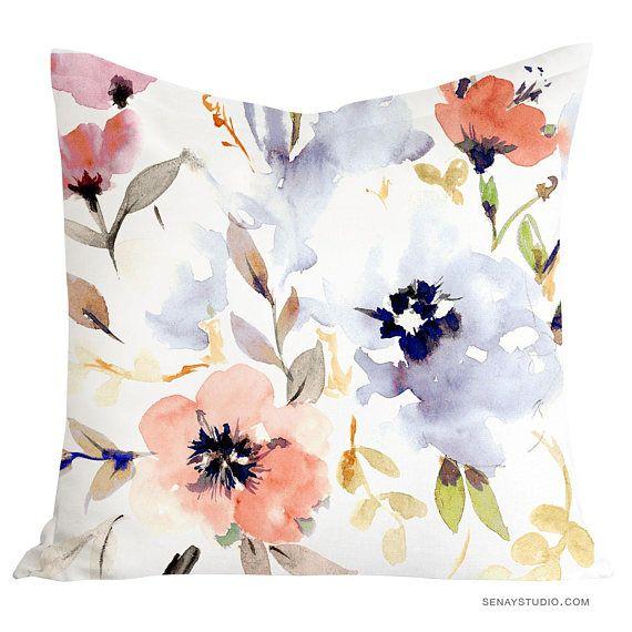 gorgeous watercolour floral pillow
