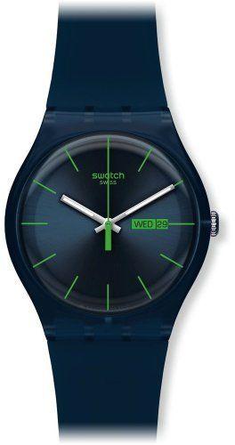 Swatch Men's SUON700 Quartz Navy Blue Dial Plastic Date  Luminous Watch Swatch. $59.50. Quartz movement. Water-resistant to 30 M (99 feet). Date watch. Plastic. Case diameter: 41 mm. Save 15% Off!