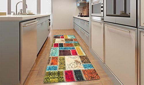 Tappeto super resistente cucina - stile patchwork orientale colorato KITCH PATCHWORK 60X240