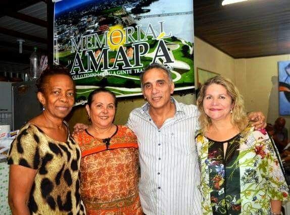 Primeira Diretoria Executiva do Memorial Amapá - Maria Dos Anjos, vice-presidente; Solange Sussuarana,  diretor de projetos; Walter Jr do Carmo, presidente e Tereza Monteiro , diretora administrativa e financeira - 25/05/2015