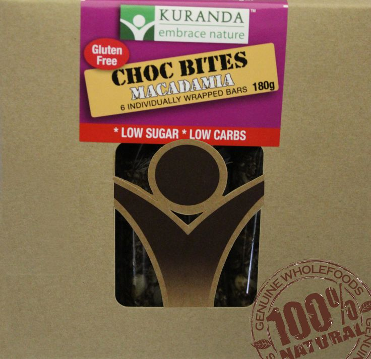 Kuranda Yummy Choc Bites - Choc Macadamia is just so delish!  Bite size Chocolate treats that are Gluten Free, Wheat Free, Dairy Free and Low GI.    Delicious on it's own or with a cup of coffee or tea!    If you're looking for a treat that wont make you feel guilty, then try a Kuranda Yummy Choc Bite today!    www.aussiehealthsnax.com.au