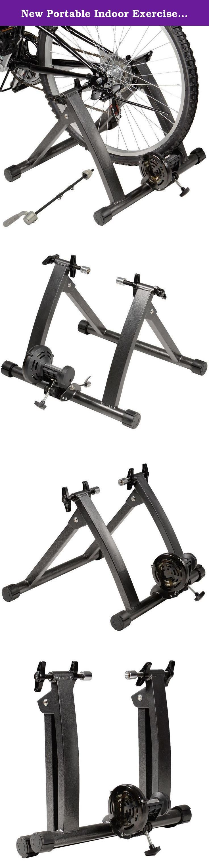 New Portable Indoor Exercise Magnetic Resistance Bicycle Trainer Bike Stand - Easily Clamps Down On Quick Release Or Bolts Onto Your Bike's Rear Wheels - Smooth, Quiet Magnetic Resistance. Discover the Wonderful Bicycle Trainer by Having the New Portable Indoor Exercise Magnetic Resistance Bicycle Trainer Bike Stand - Easily Clamps Down On Quick Release Or Bolts Onto Your Bike's Rear Wheels - Smooth, Quiet Magnetic Resistance Description: - Wanna enjoy bicycle training while it's too cold...