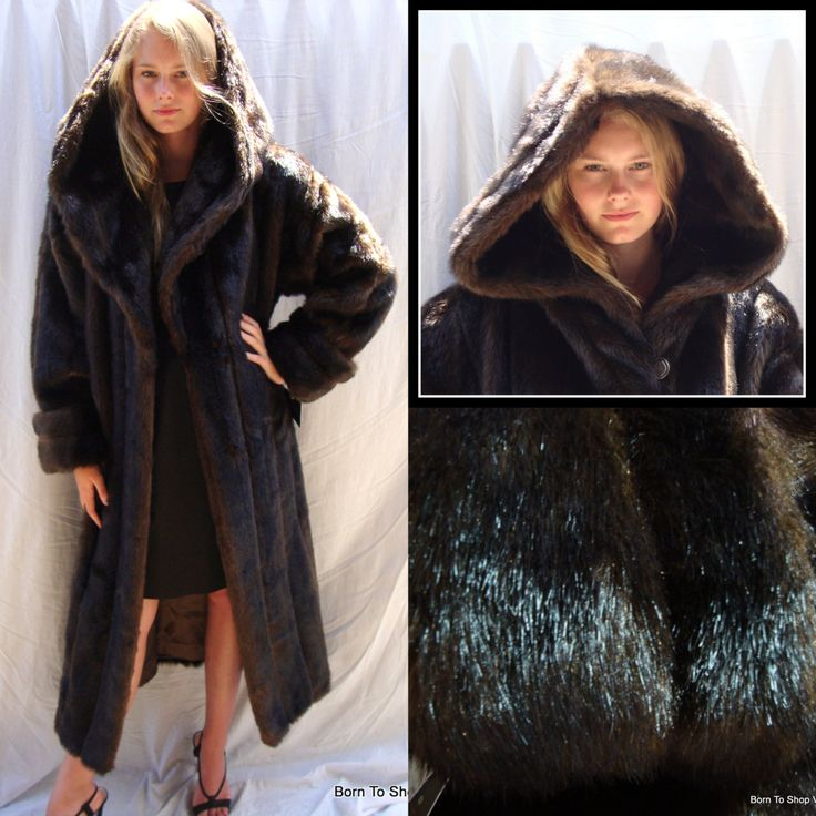 31 best VINTAGE VEGAN FAUX FUR COATS images on Pinterest | Faux ...