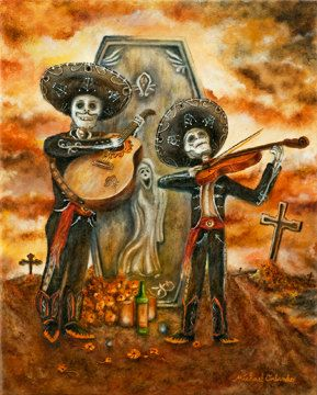 Its mine!!! Lol love the colors...   FREE SHIPPING  5 x 7 Borderless Day Of The Dead by orlandoart, $14.00