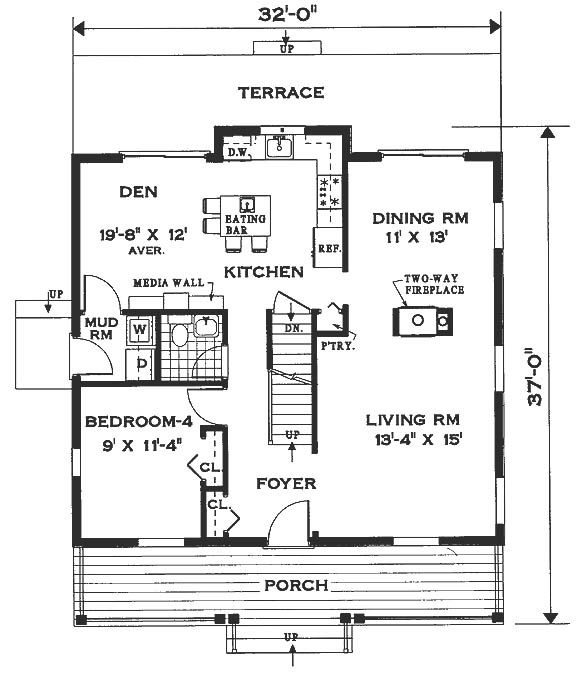One of many floor plans I like.  I love to 'play' with these.