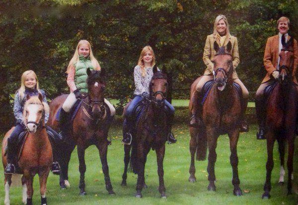 victorysp:  Dutch Royal Family Christmas and New Years Card 2015-Princess Ariane, Princess Amalia, Princess Alexia, Queen Maxima and King Willem-Alexander