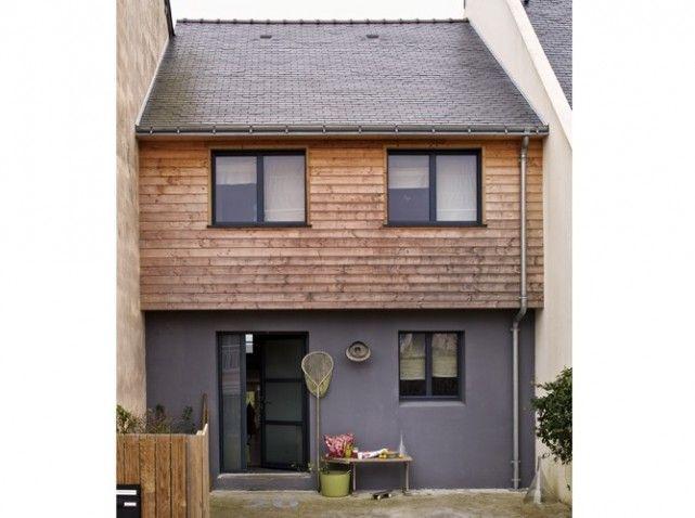 Une maison en Bretagne et son extension en bardage.