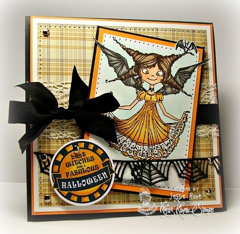 Featuring Batty Princess and Halloween Trinkets by Kraftin' Kimmie Stamps  Designed by Jessie Rone