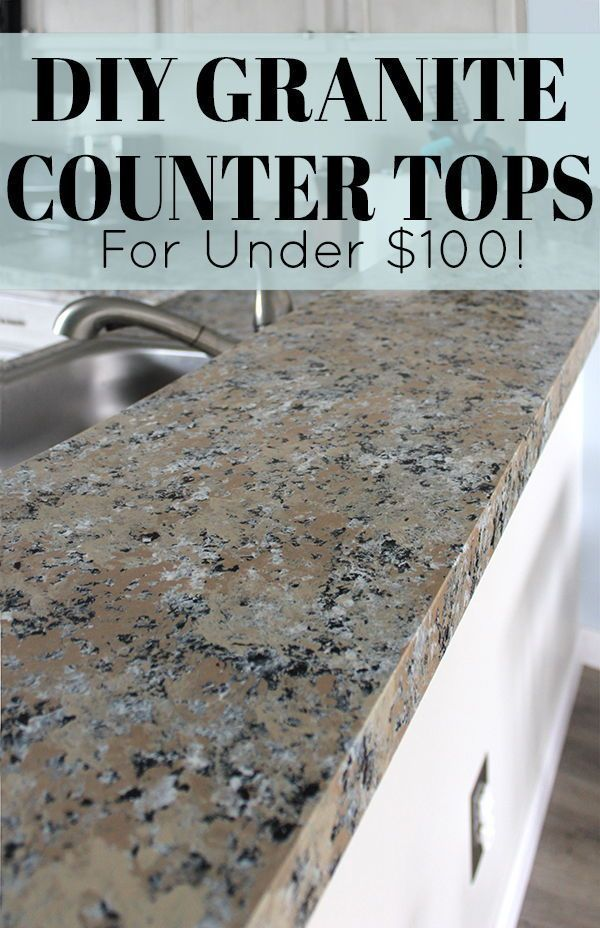 Diy Granite Countertops Yes Really The Honeycomb Home In 2020 Diy Granite Countertops Diy Kitchen Countertops Diy Countertops