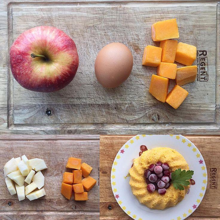 Яблочно-тыквенный пудинг