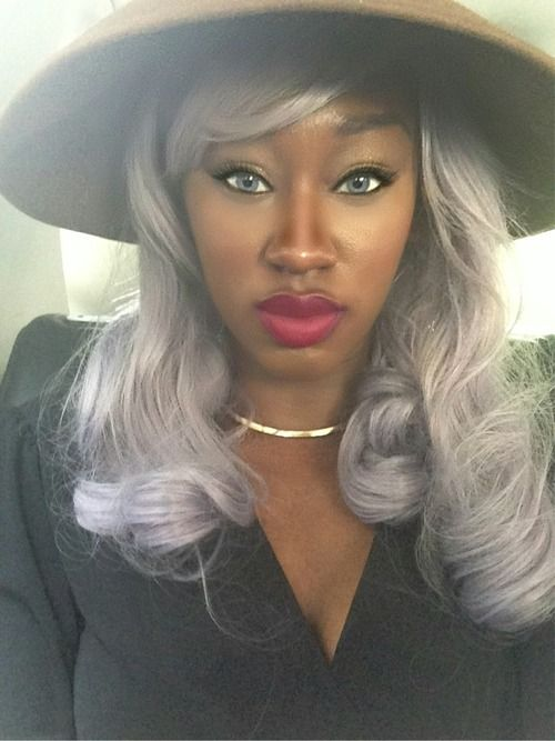 10 Of Our Favorite Black Women With Grey Hair Gray Hair Grey Hair And Hair Trends