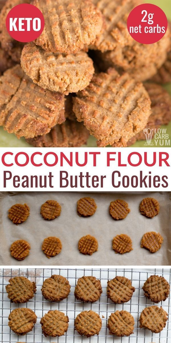 Easy Keto Peanut Butter Cookies Made With Coconut Flour These