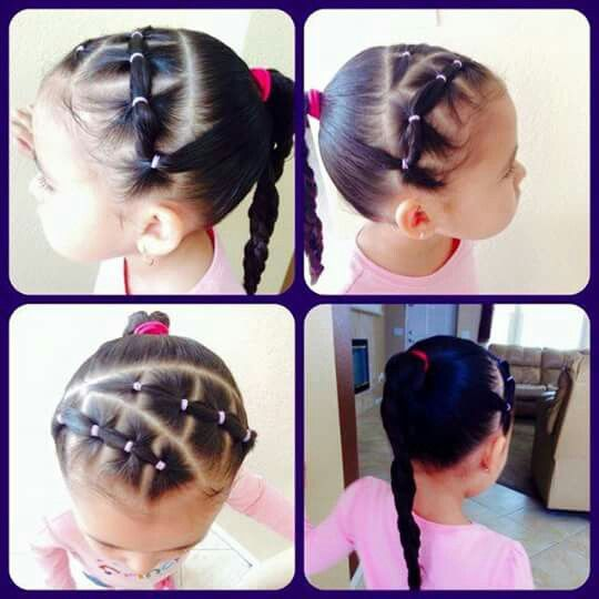 Hairstyles For Little Girls 27 Best Peinados Para Niñas Images On Pinterest  Little Girl