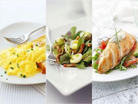 Kalóriadús reggeli és kalóriaszegény vacsora