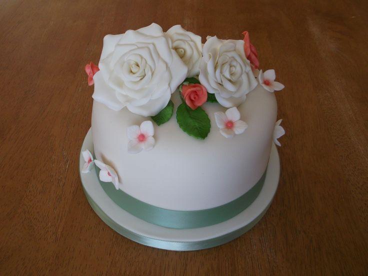 Roses wedding cake x www.facebook.com/fireflycakes