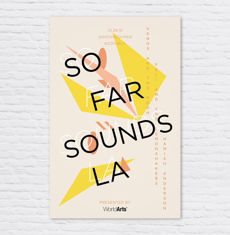 SoFar Sounds Poster Design: 10.28 — Chrissi Hernandez  #posterdesign #graphicdesign #typography #geometric #sofarsounds