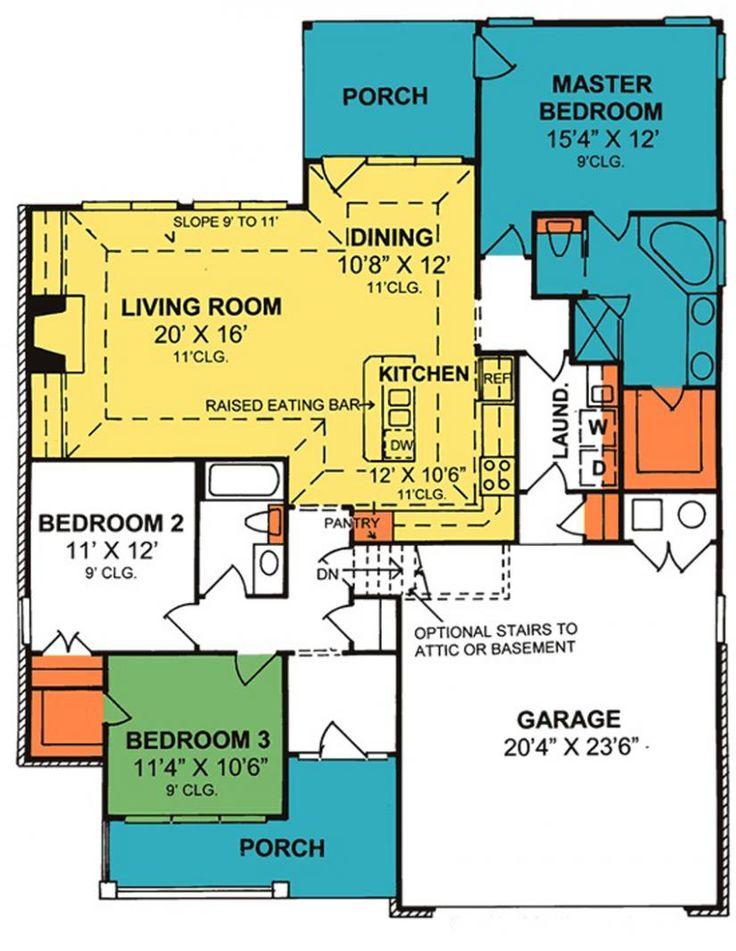 606 migliori immagini house plans to show mom su pinterest for Ranch home progetta planimetrie