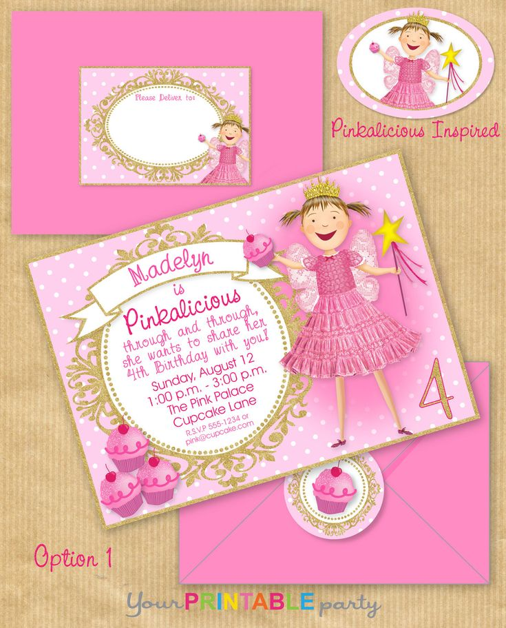 146 best Kids Party Ideas images – Pinkalicious Party Invitations