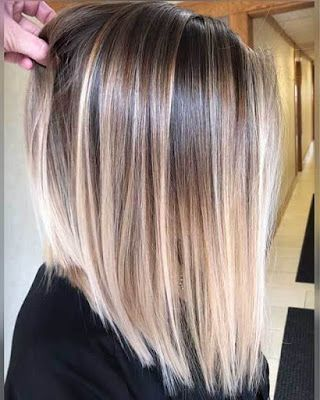 21+ Sweet short hairstyles with balayage for women with fine hair