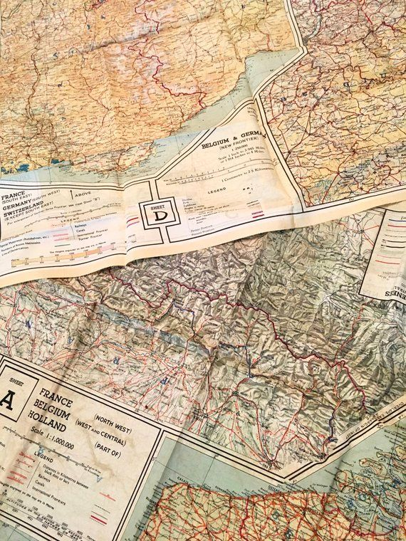 Vintage WWII European Theater Escape Maps | British Escape Maps ...