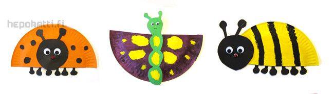 Askartelua paperilautasista | Hepokatti.fi - puuhaa ja tekemistä lapsille >> askarteluohjeita lapsille, värityskuvia, tehtäviä lapsille, leikkivinkkejä ja pelejä