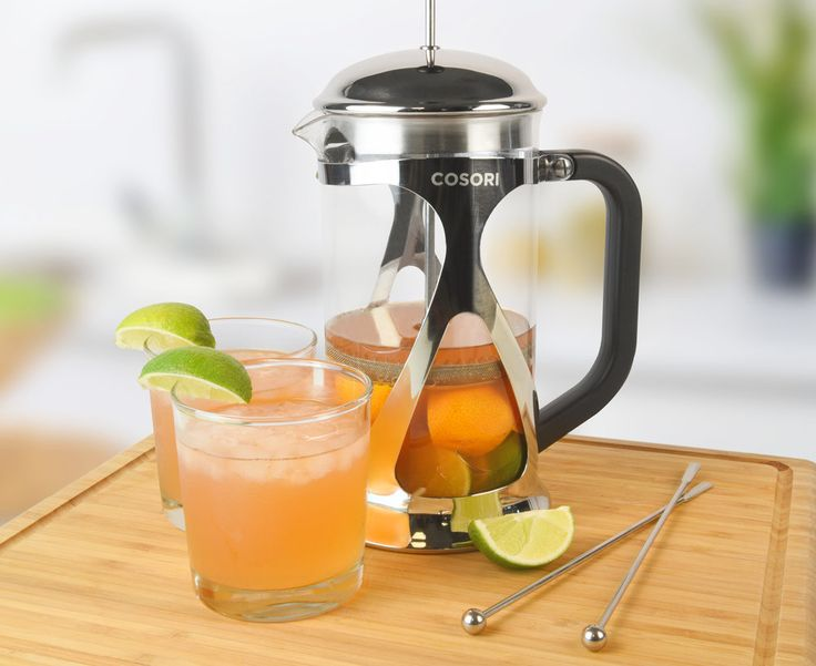 YIELD: 6 SERVINGS  |  TOTAL TIME: 5M INGREDIENTS     * 2 oranges, quartered     * 2 limes: sliced     * 1 ½ c cold water     * 2 ½ c blood orange juice     * 1 ½ c Pisco INSTRUCTIONS     1. Cut oranges and limes and place them at the bottom of the french       press.    2. Place all li