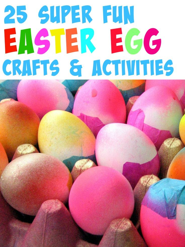 Easter doesn't have to be all about chocolate eggs for kids... here's some great ideas for Easter egg crafts for kids to inspire you during Lent and Easter