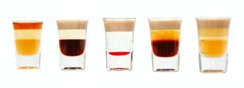 French Kiss::10 ml amaretto liqueur 10 ml Frangelico 10 ml ...