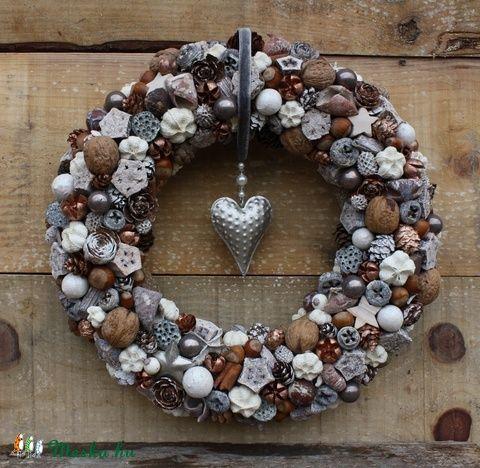 Bronz Karácsonyi kopogtató szívvel - Madárka Bazár