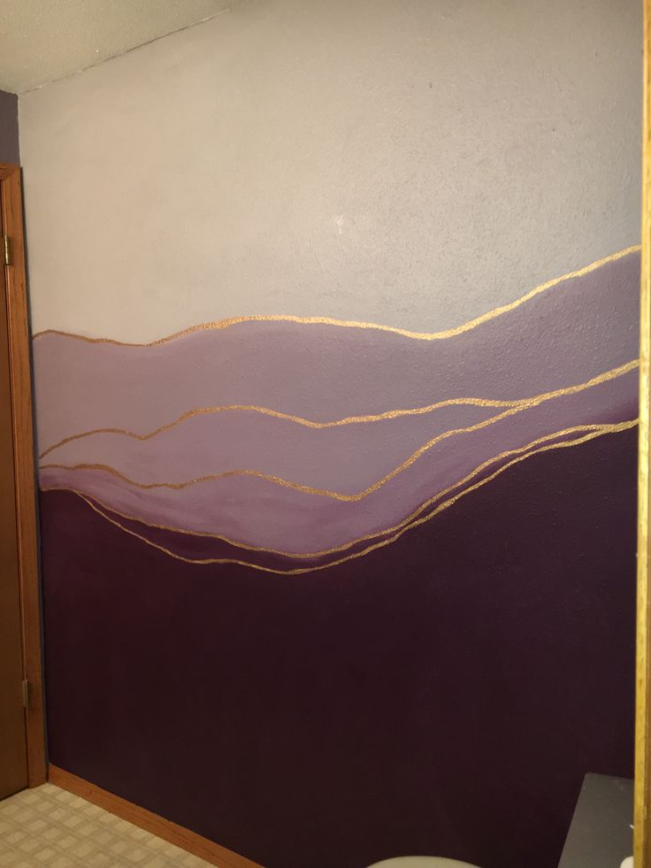 Want to find out how to achieve this DIY ombre wall? Come into Kimps Ace Hardware Paint and Decorating Studio.  #ombré #paintwalls #ombrepaint #purpleombre #purple #diy #diypainting #goldpaint