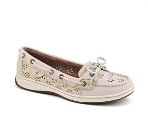Trendy perforated pink leather gives this shoe the desired feminine touch! Adds color to any outfit...sure to please. Soft leather uppers. Stain and water-resistant. The quality you would expect from Sperry! Women's Angelfish Floral Perf Leather Boat Shoe 9265893. #sperry #womenssperry #summershoes #angelfish  http://www.flcrooks.com/womens-angelfish-floral-perf-leather-boat-shoe-9265893.aspx
