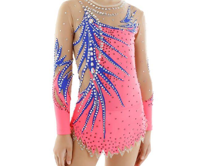 Collant # 202: Ginástica Rítmica Body de Ginástica, patinação artística no gelo Vestido, Ginástica Acrobática Costume