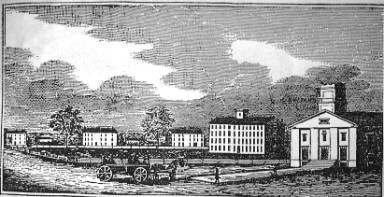 The Meeting House, Tappan Square, and Oberlin Institute Buildings - 1846
