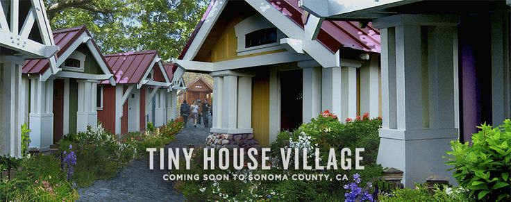 YES!!! this is such a cool concept. Tiny House Village | Sonoma County | Four Lights Tiny House Company