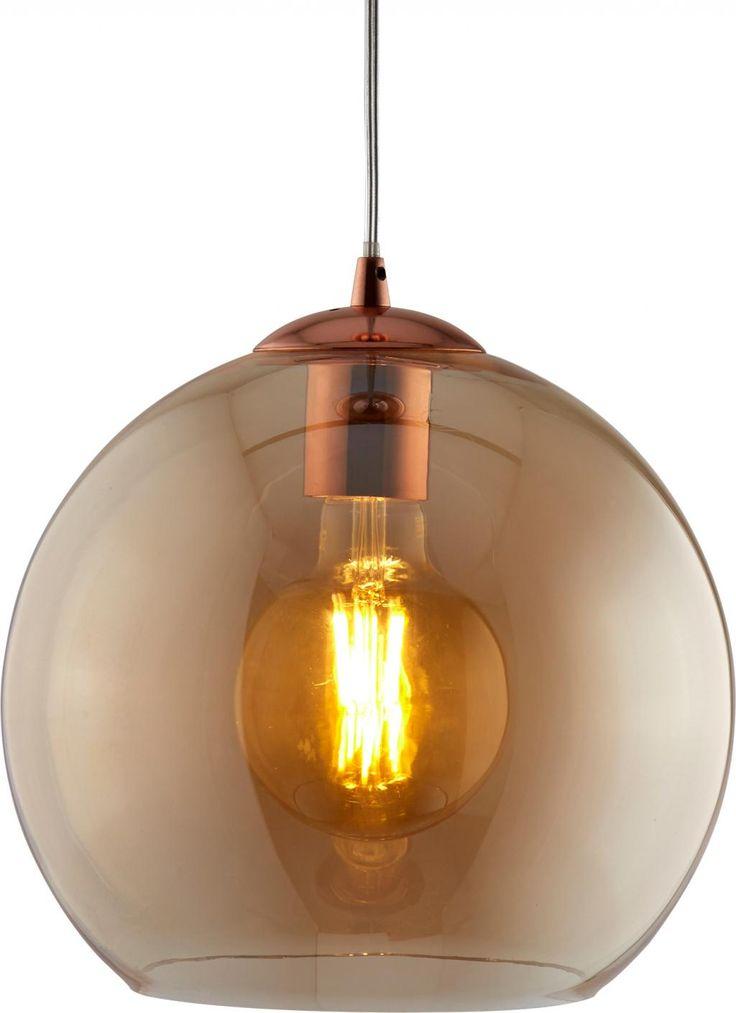 Hanglamp Balls - Bruin - 30 x 31 cm - Searchlight
