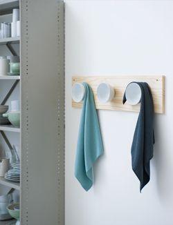 #DIY #towel rack #hang up - zelfmaakidee: #theedoekenrek #handdoekenrek - kijk op: www.101woonideeen.nl