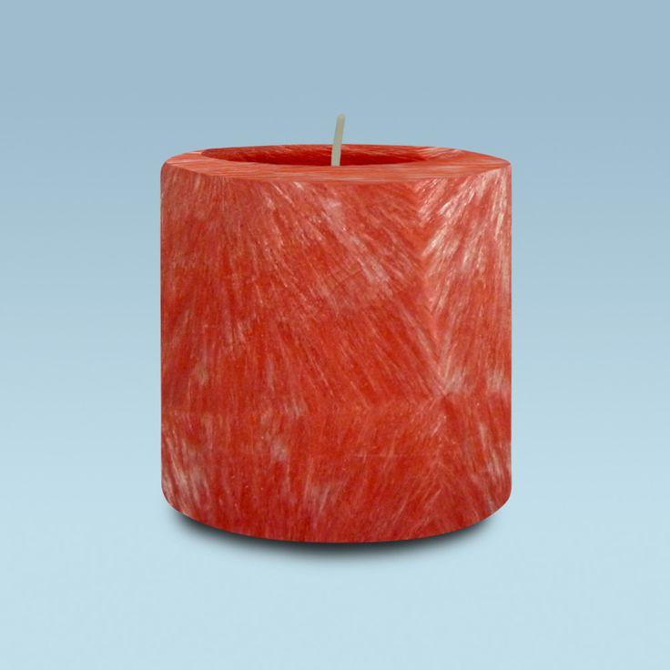 Chandelles rondes rouge avec effet cristal 100% naturelle (42 heures)