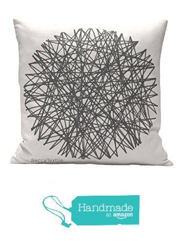 Cuscino cerchio grigio.Cuscino disegno geometrico. Cuscino di cotone e lino 40 x 40 cm.BeccaTextile. da BeccaTextile https://www.amazon.it/dp/B01LOO7DZK/ref=hnd_sw_r_pi_dp_-AH3yb8QDV91H #handmadeatamazon