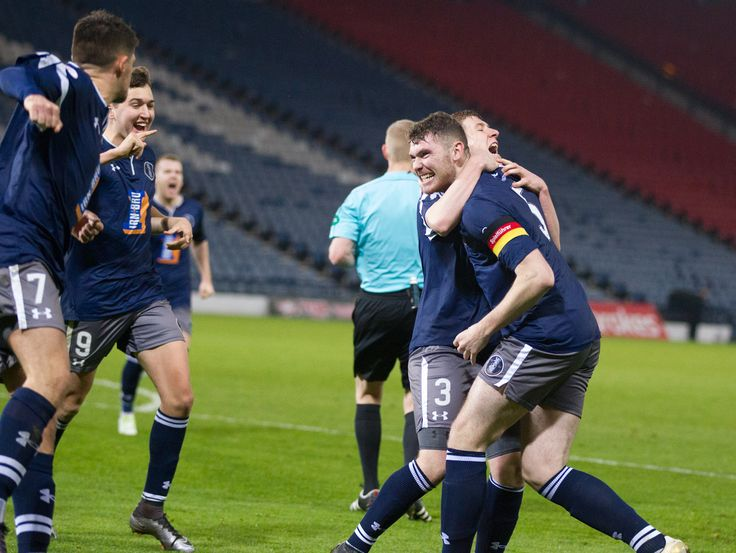 Queen's Park's Ryan McGeever celebrates his goal during the Ladbrokes League One game between Queen's Park and Brechin City