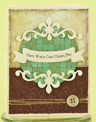 Happy World Card Making Day Card by @Nicki Clark Scheck