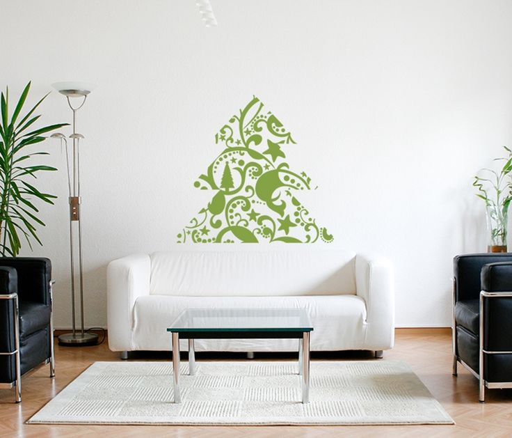 Looking for christmas wall stickers? This artistic christmas tree would be amazing living room decor all year long!