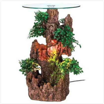 BONSAI Fountain Glass-Top TABLE