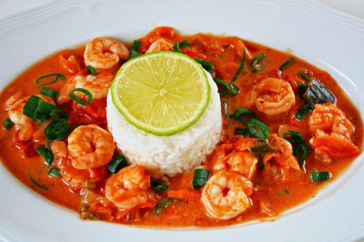 Brasilianisches Kokos Limetten Curry mit Garnelen - Cinnamon&Coriander