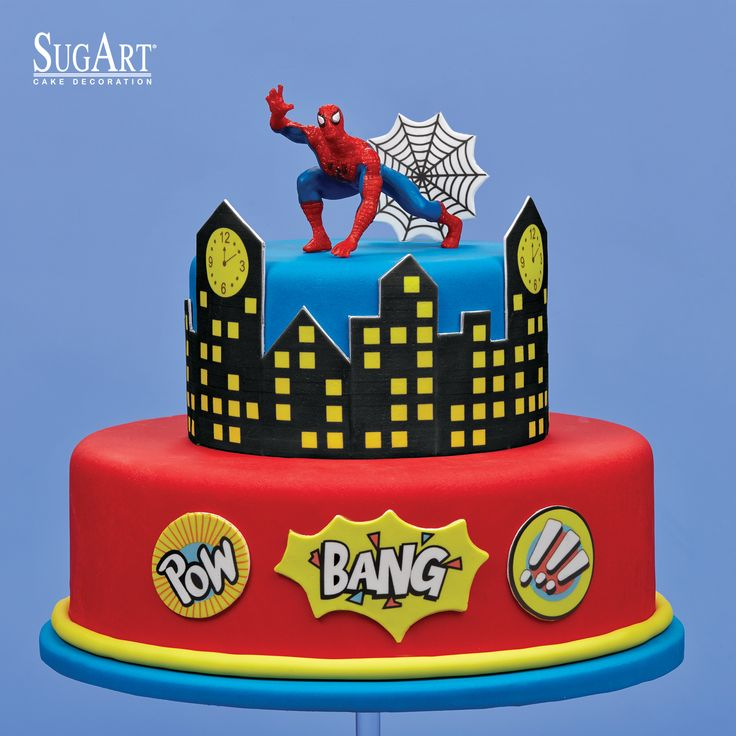 Birthday Cake:Sugarpaste, #Spiderman,Sugar chocolate printed plaques,Fondant Imagination.: Have a great spidey day. :D   Cake with ready sugarpaste printed plaques. Visit our website and see our entire range of products:  www.sugart.com